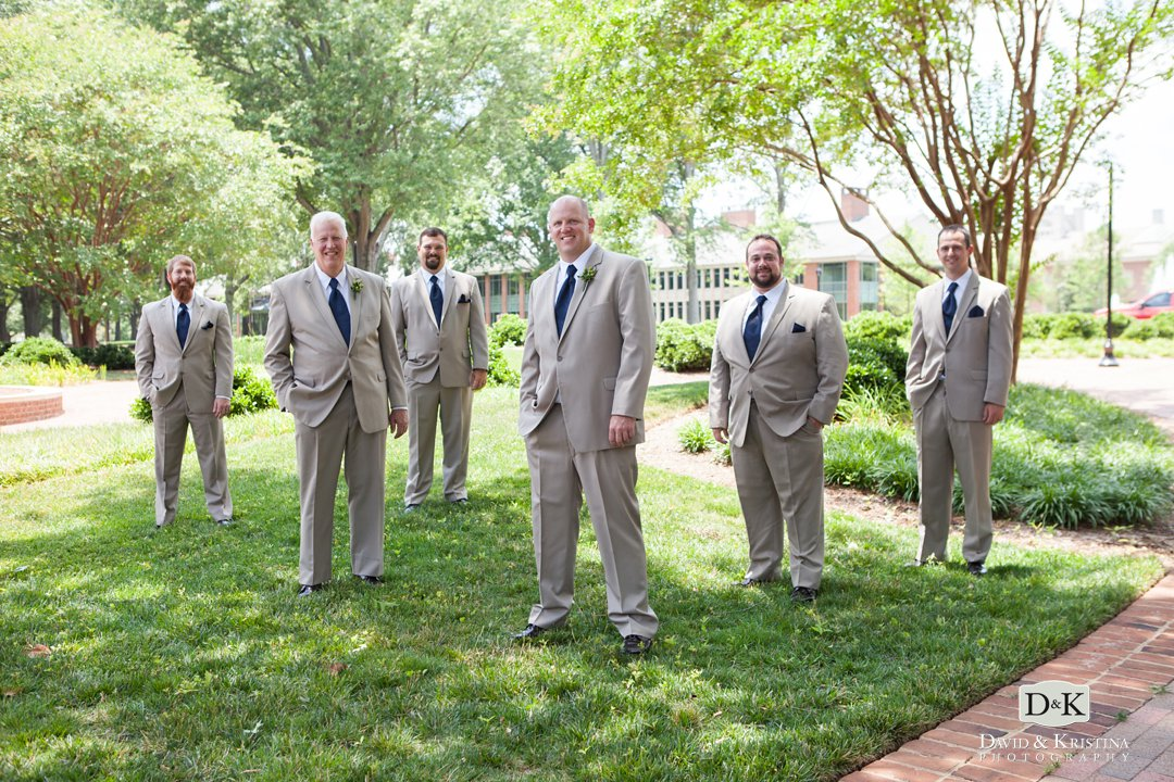 groomsmen at Furman