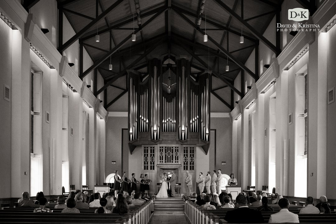 Wedding in Daniel Chapel at Furman University