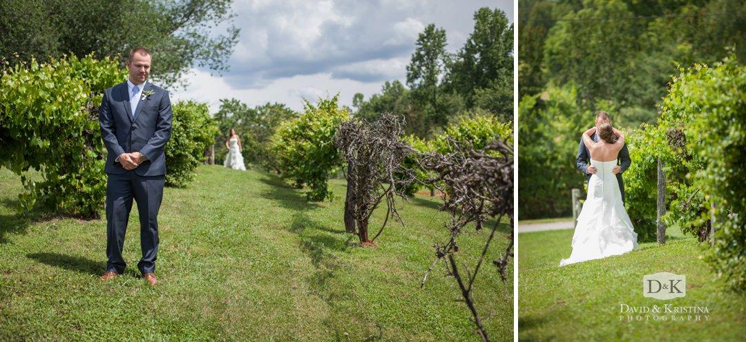 first look in vineyard