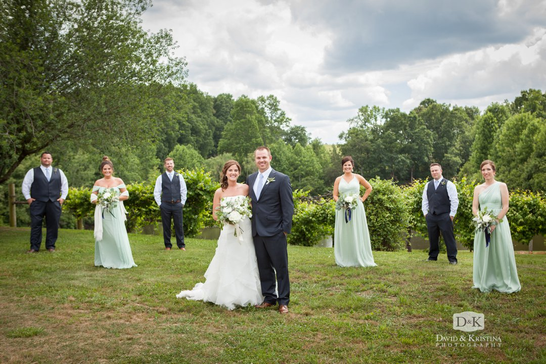 wedding party at Greenbrier vineyard