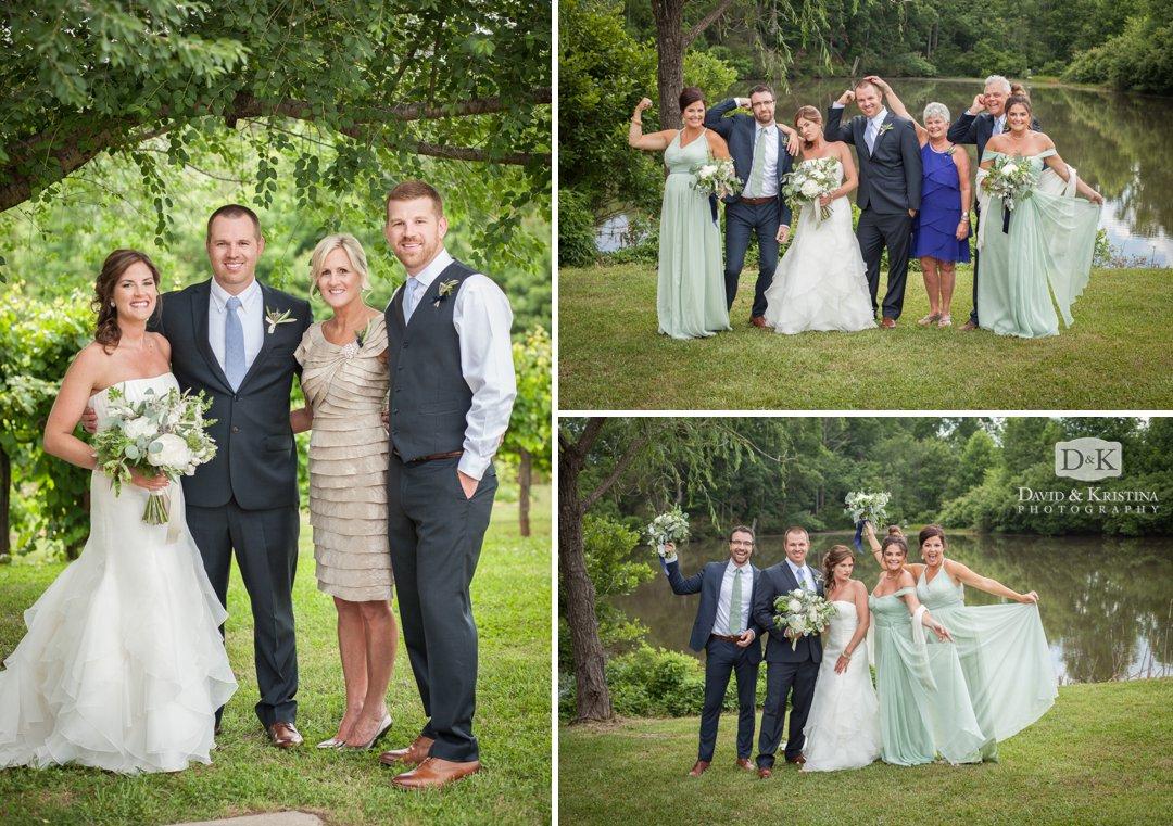 fun family photos at wedding