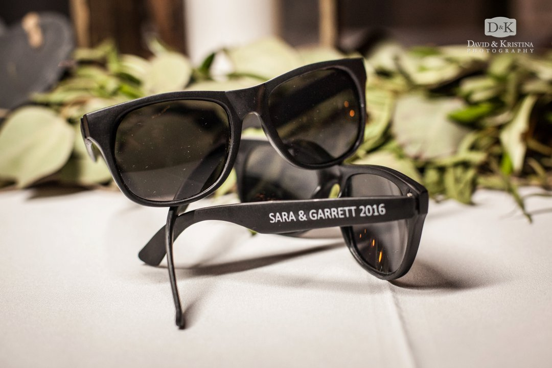 personalized sunglasses for wedding favor