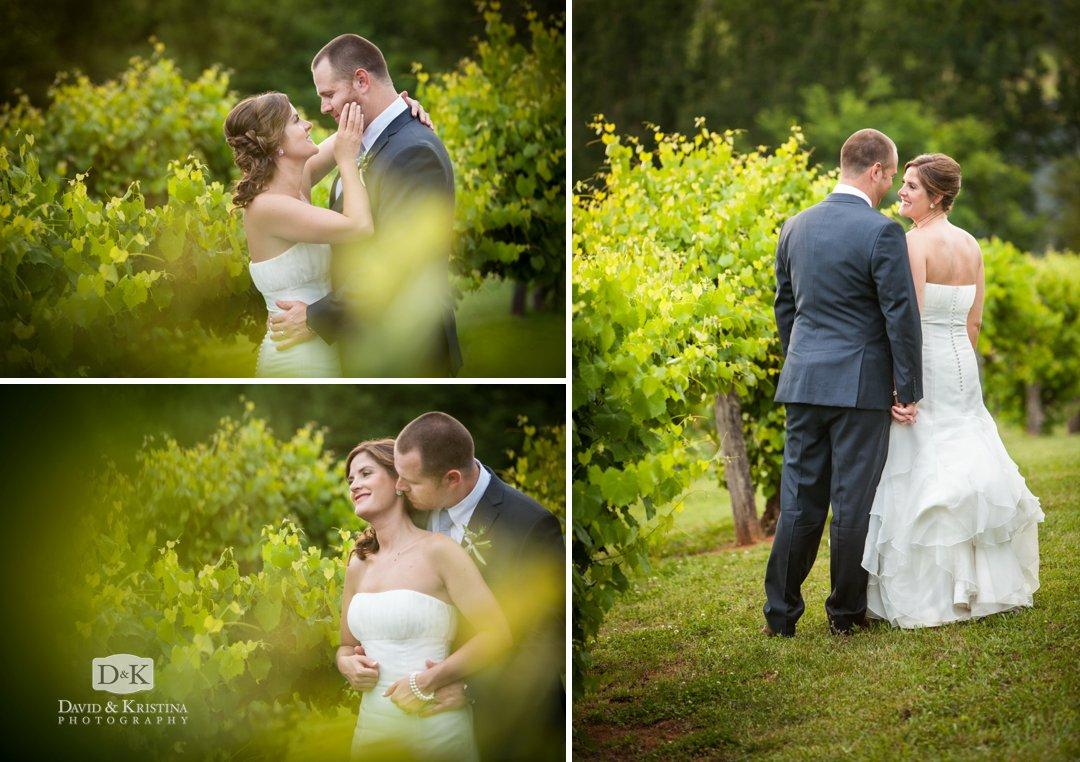 Garrett and Sara in vineyard