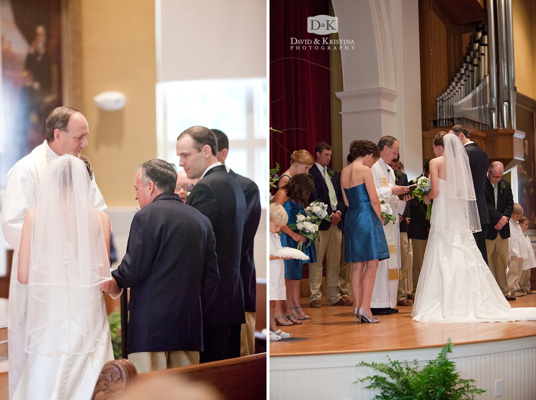 wedding at old main wofford college
