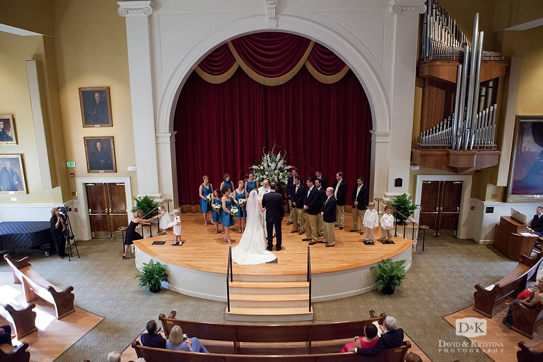 wedding Leonard Auditorium Old Main Wofford College