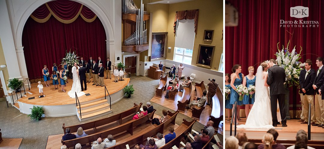 wedding ceremony in Old Main auditorium