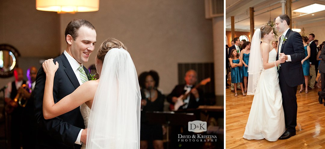 first dance Indigo Hall wedding reception