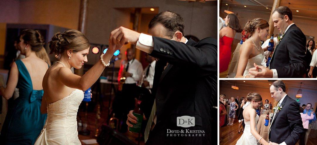dancing at wedding reception at Indigo Hall