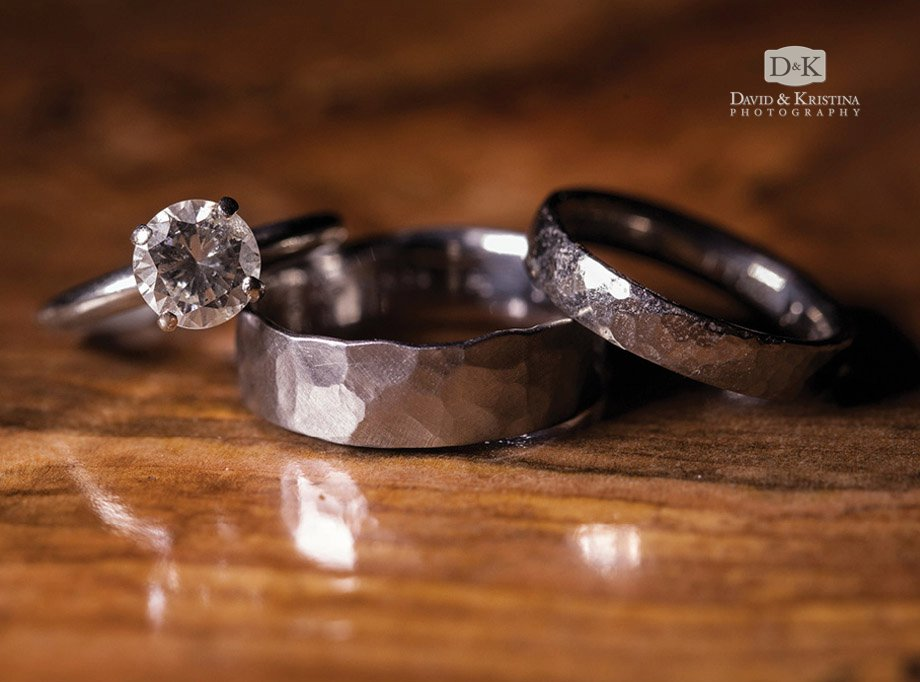 handmade metal wedding rings by Danielle Miller jewelry