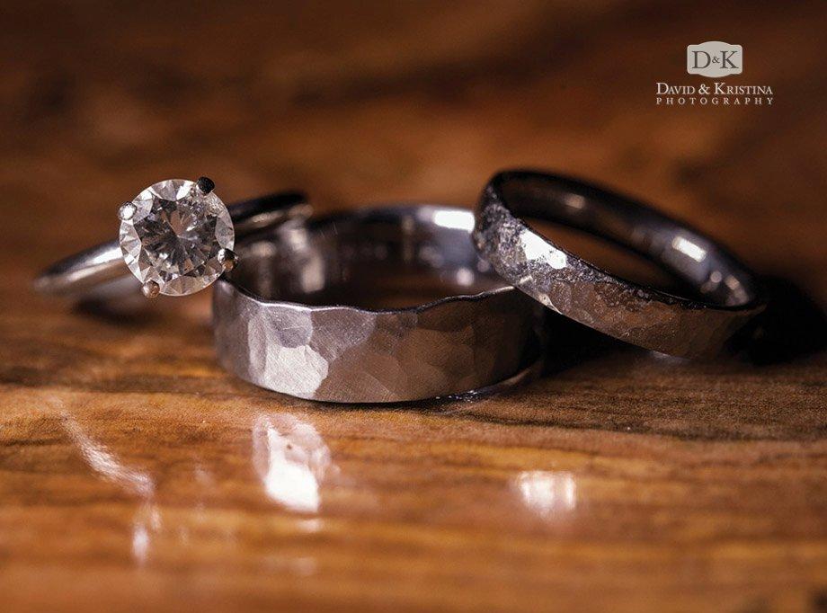 handmade metal wedding rings by Danielle Miller jewelry