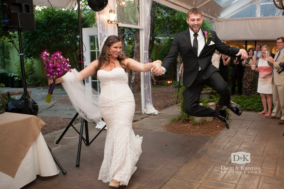 groom jumps and clicks his heels together bell kick Twigs wedding