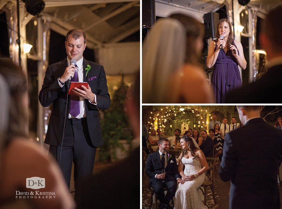 best man and maid of honor toasts