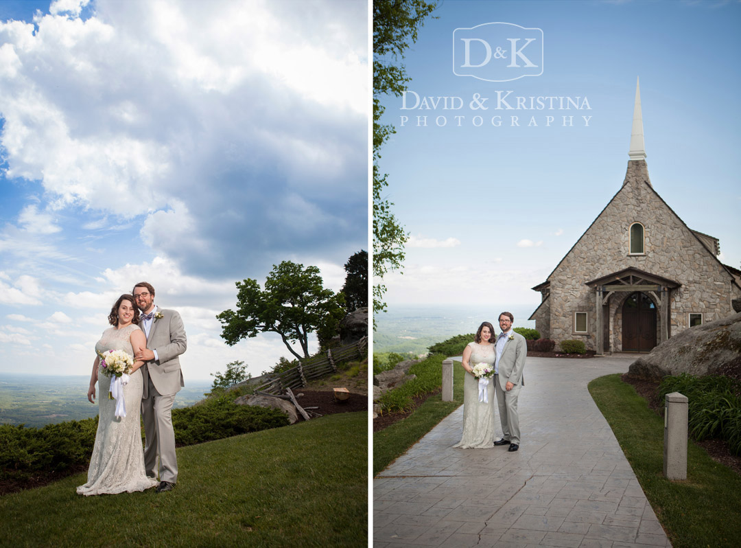 Adam and Jacey at Glassy Mountain Chapel wedding