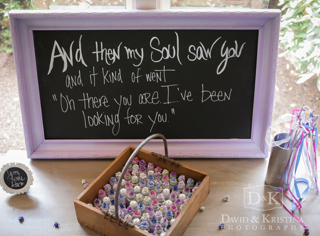 chalkboard sign for guest favors