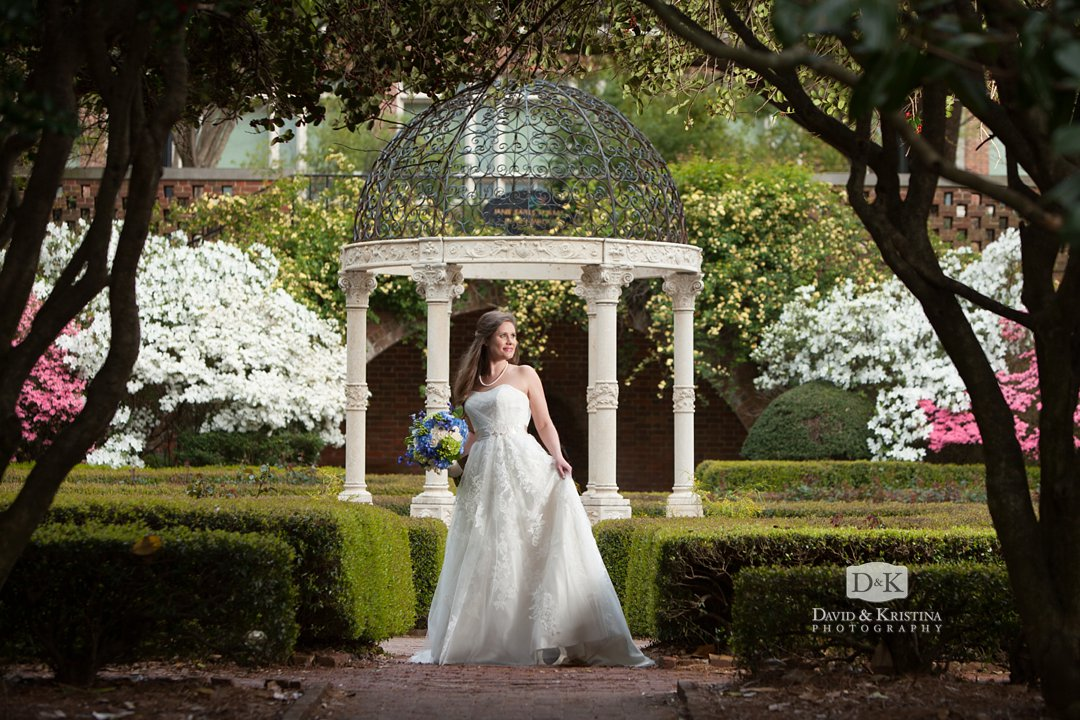 Furman rose garden bridal portrait