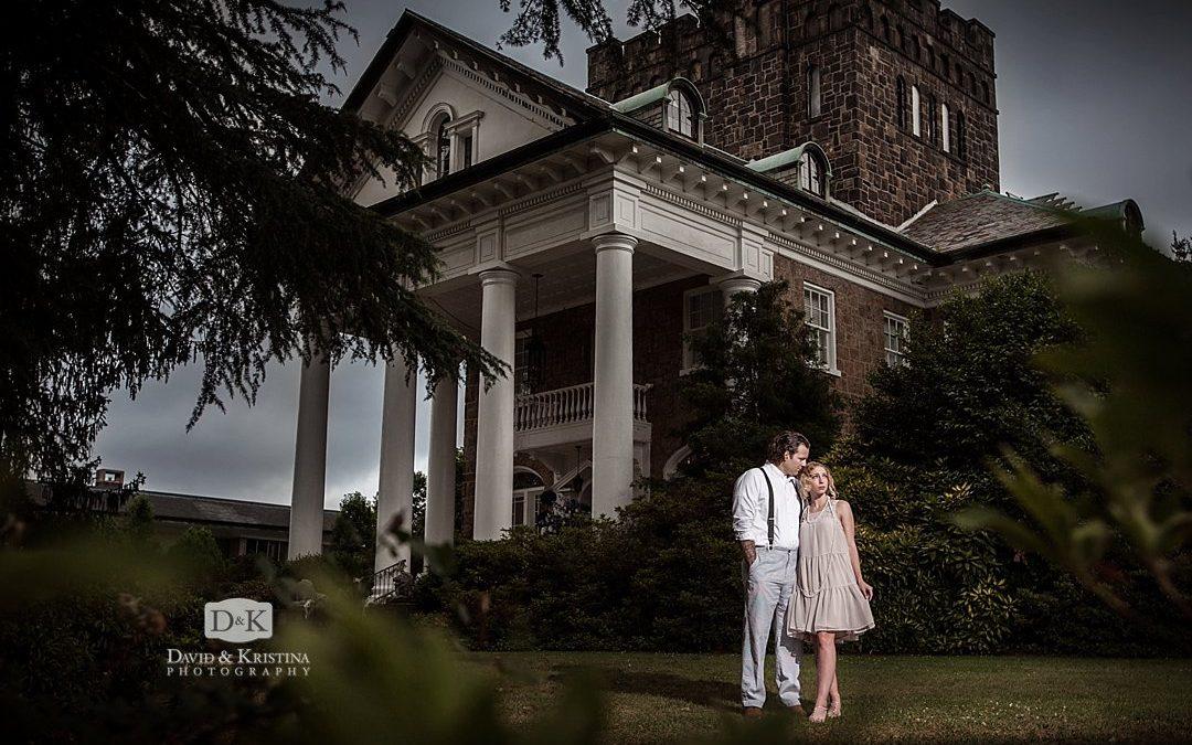 Gatsby Engagement Photos at The Gassaway Mansion | George & Jennifer