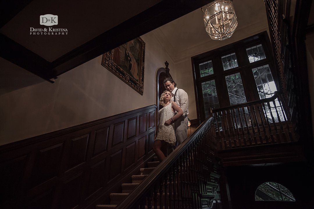 Gassaway Mansion staircase for engagement photos