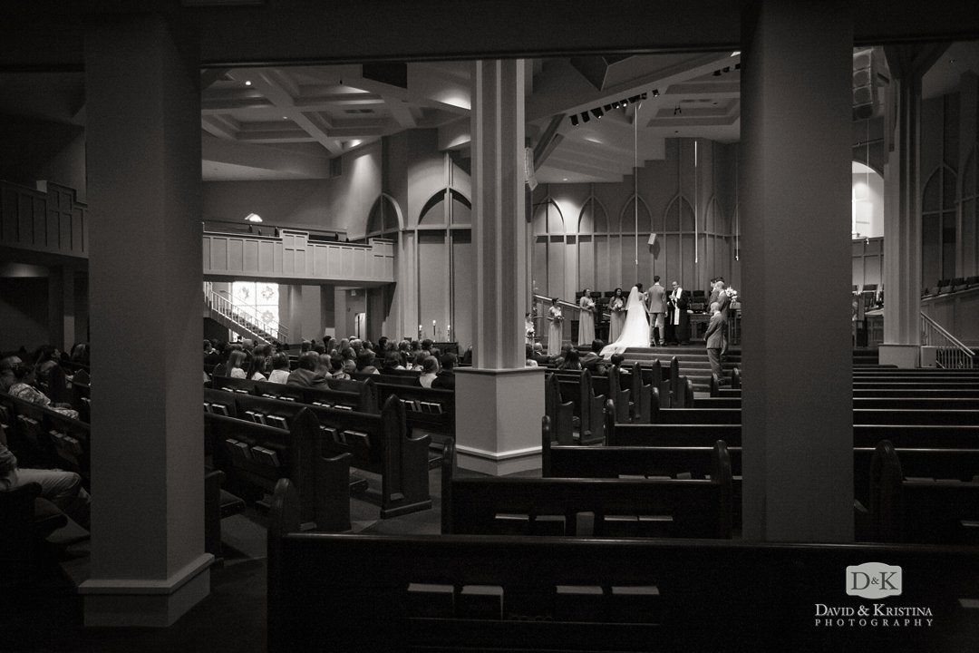 Easley First Baptist Church sanctuary during wedding