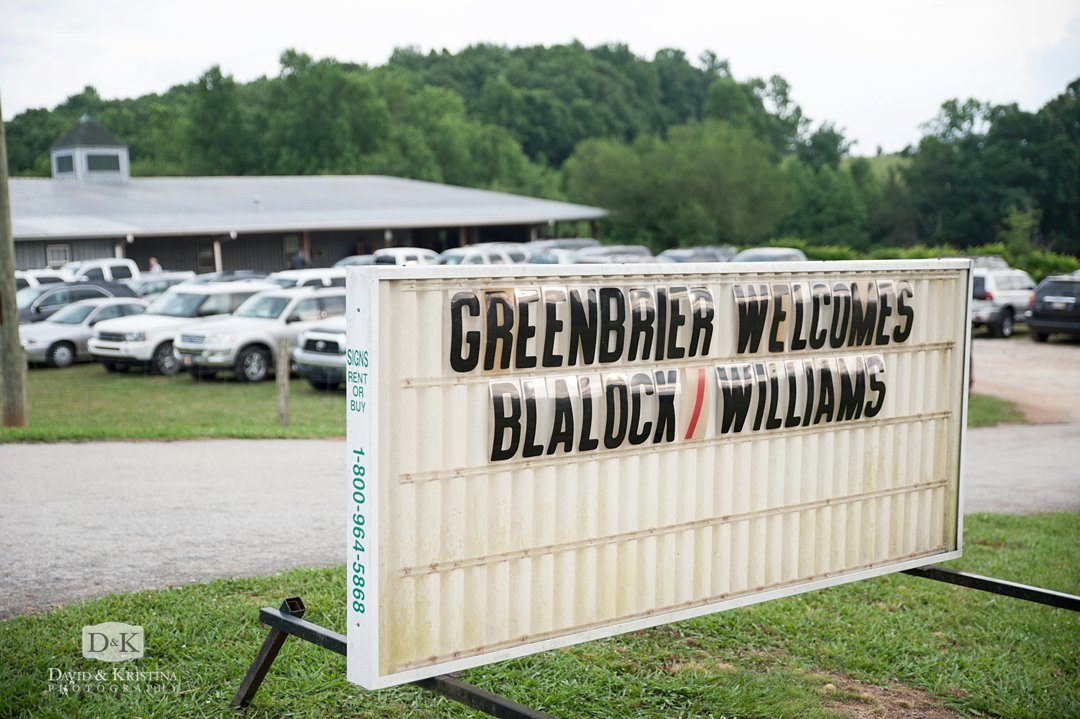 Greenbrier Farms welcome sign