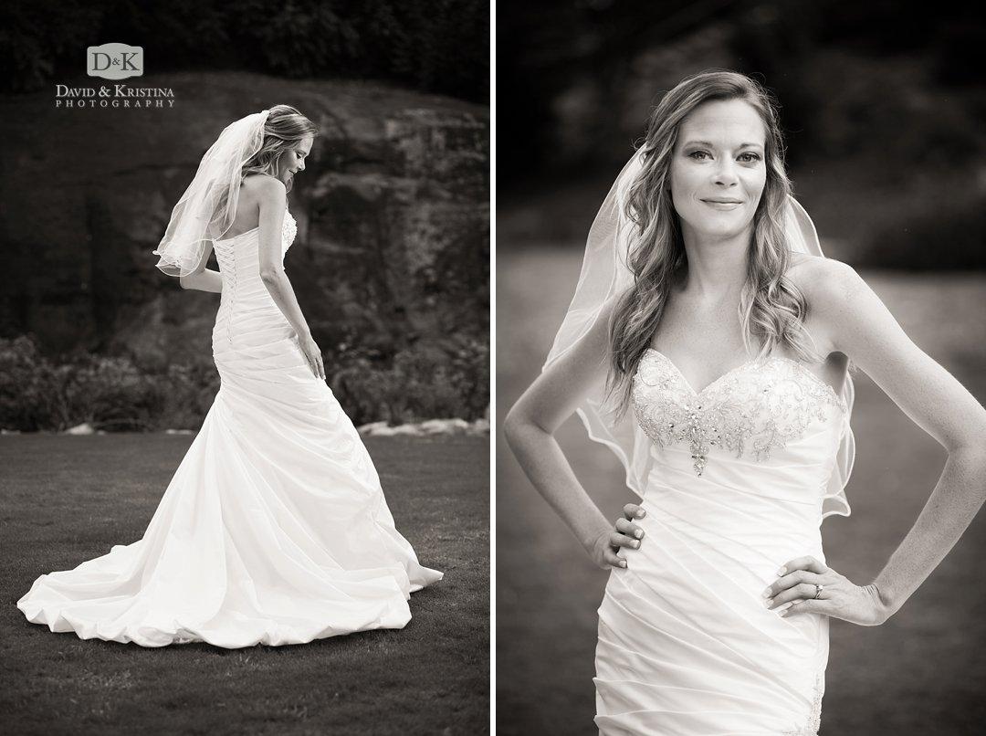 bridal portrait back of dress