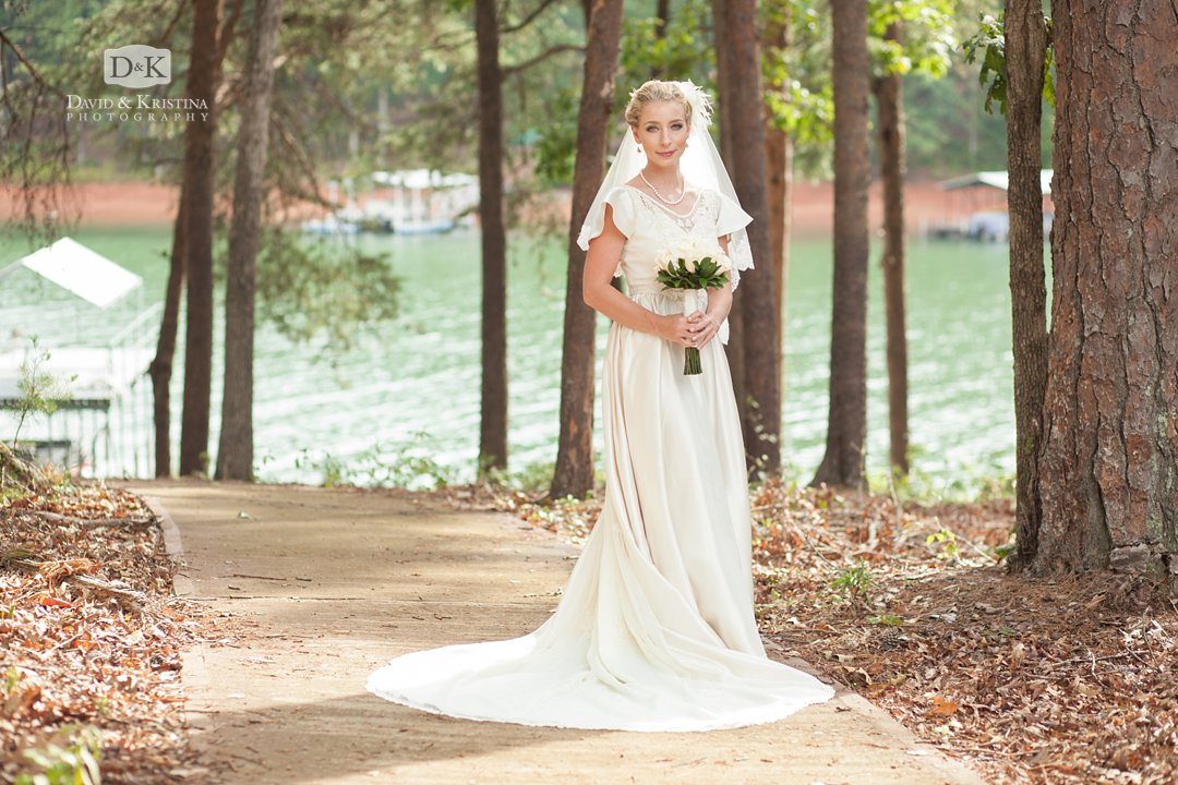 bride at Lake Hartwell