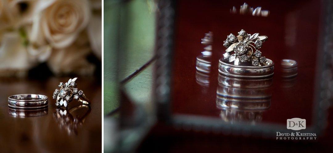 cool shot of wedding rings