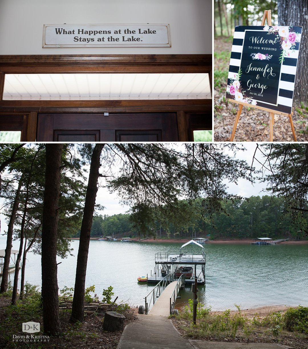 Hartwell lake house for wedding
