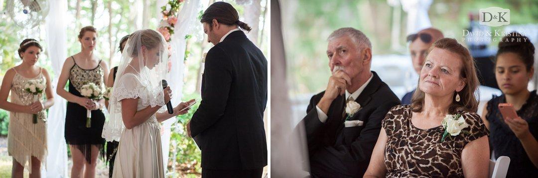 bride reading vows