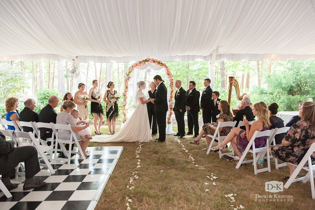 tent for wedding ceremony Professional Party Rentals