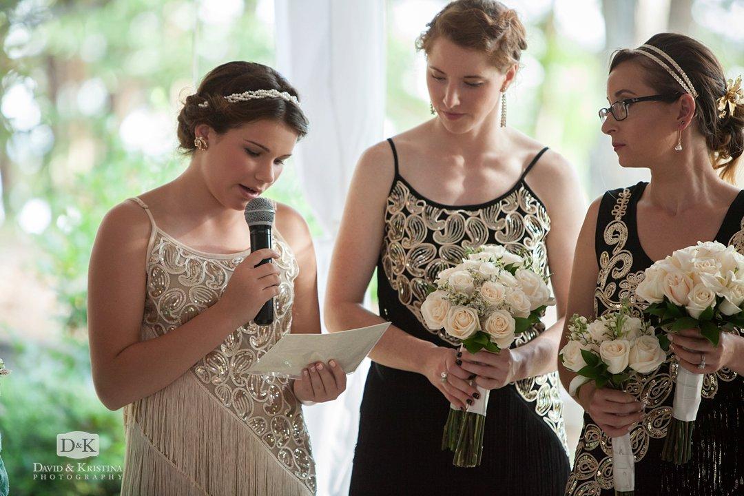 reading during wedding