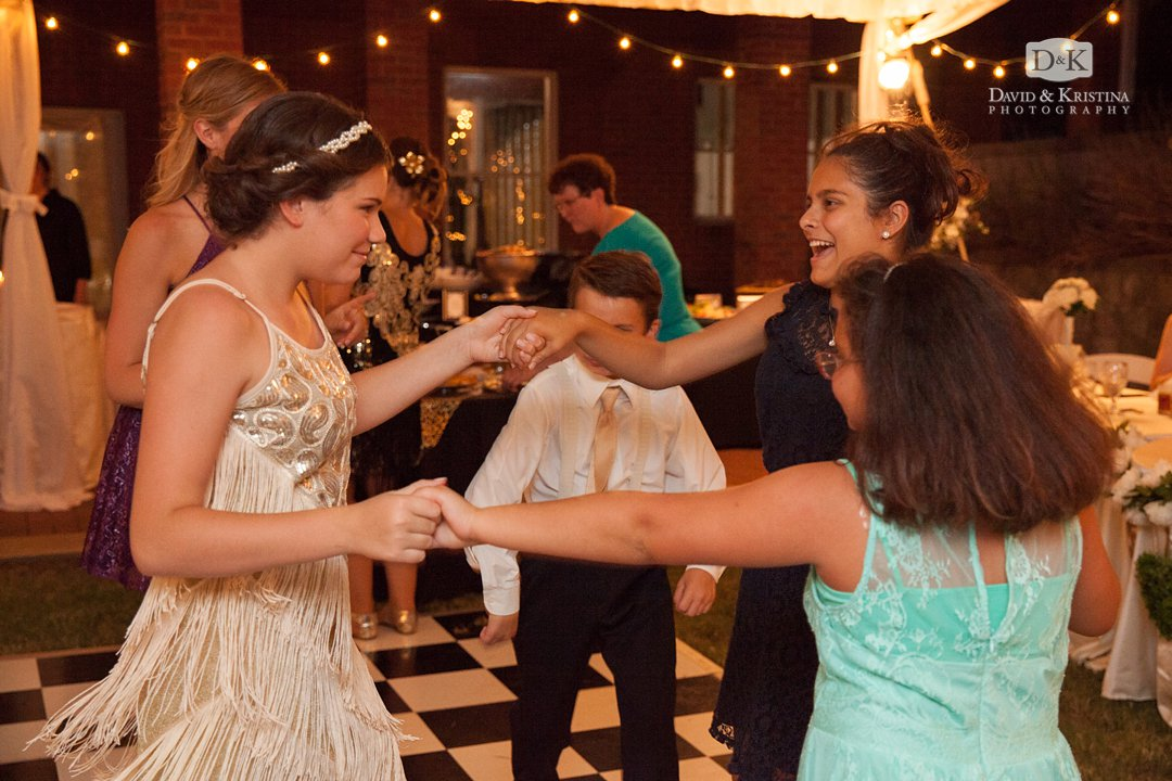 Professional Party rentals dance floor for wedding reception