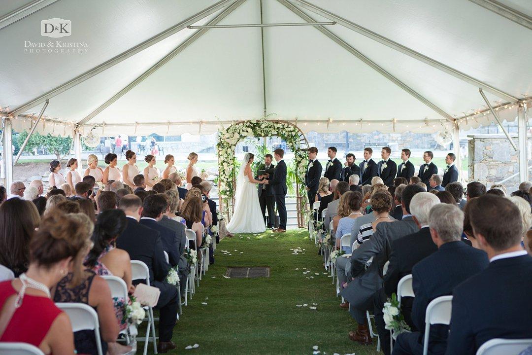 Peace Center amphitheater wedding