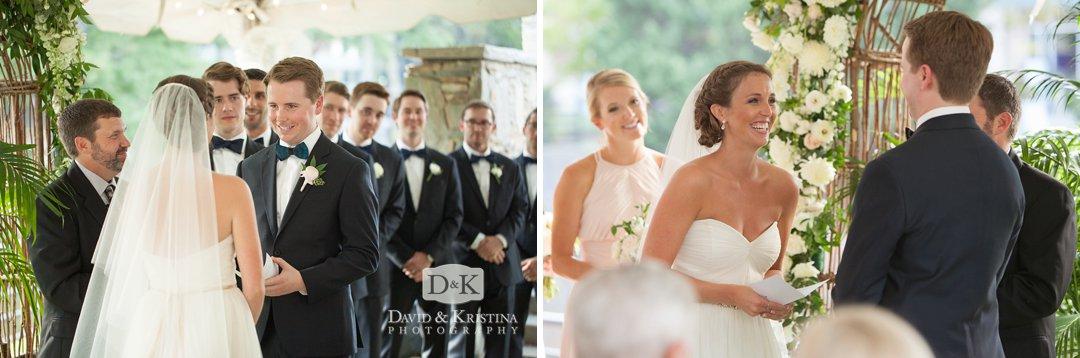 Wyche pavilion wedding ceremony