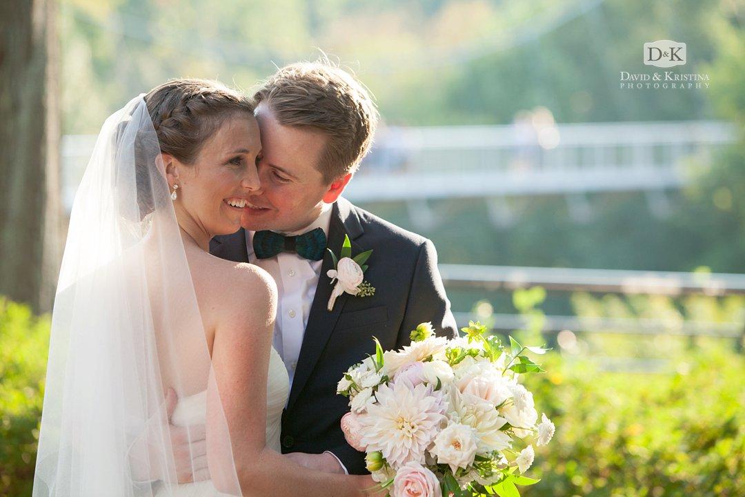 Byron kissing Jessica at Falls Park