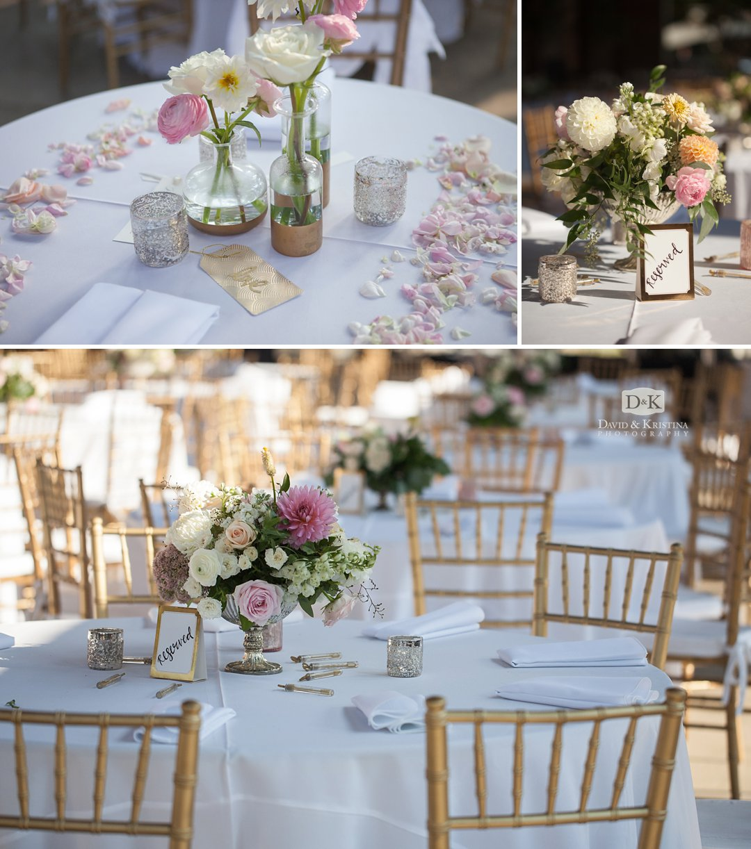 table decorations by Statice