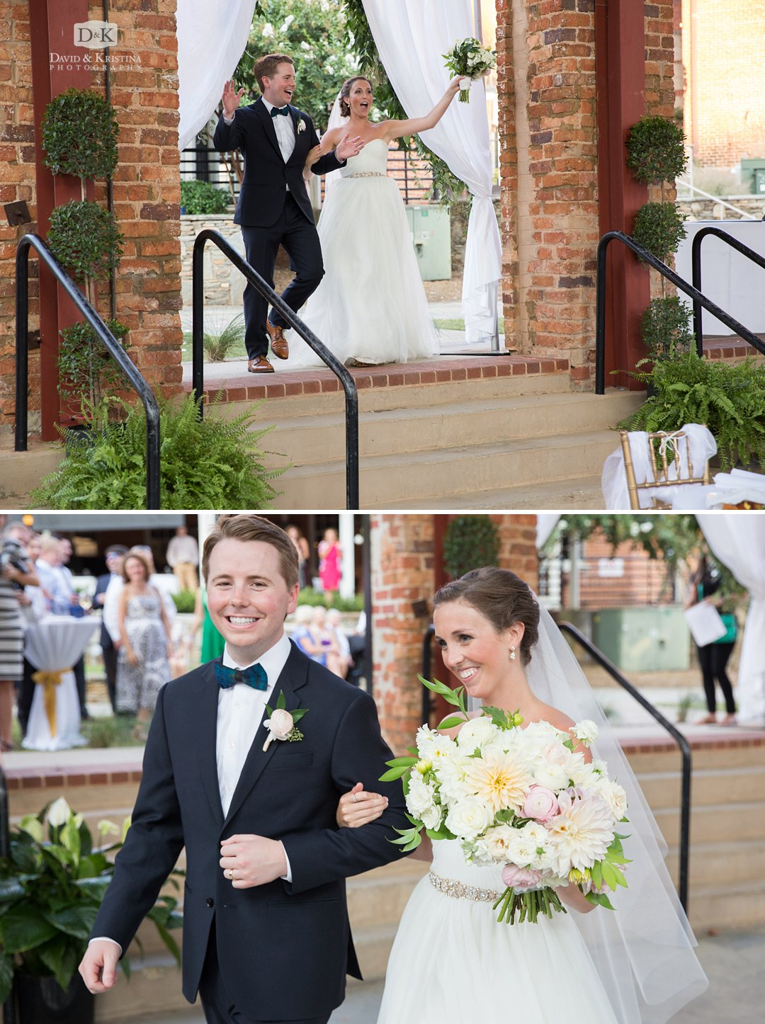 bride and groom introduced into reception at Wyche Pavilion