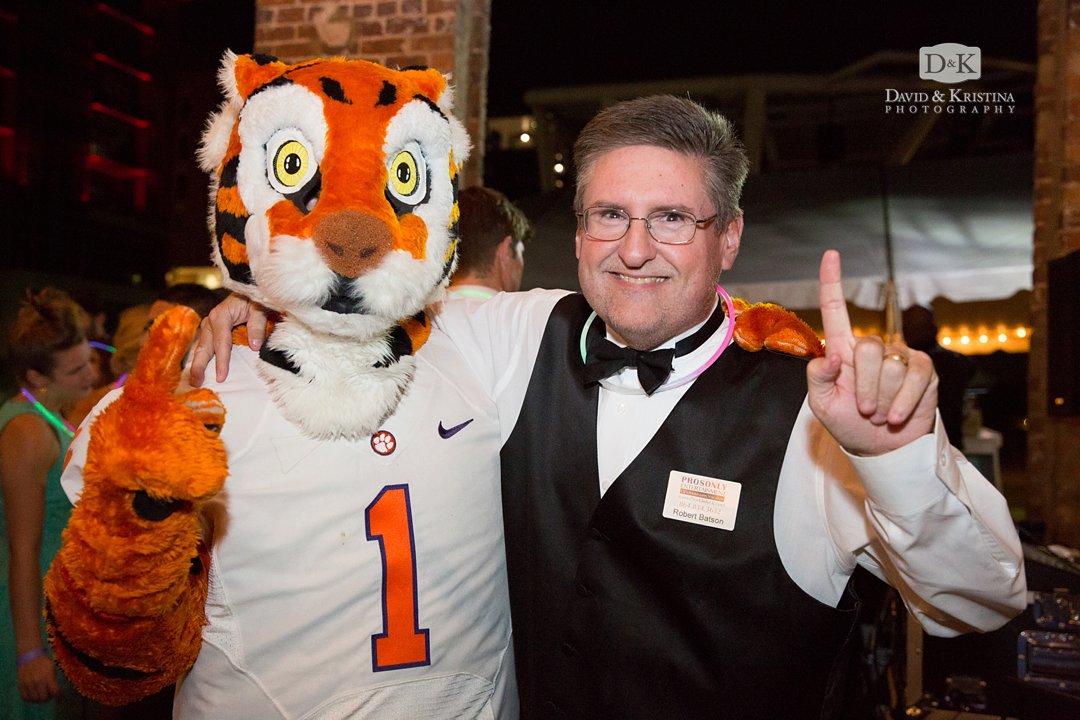 Robert Batson with Clemson Tiger