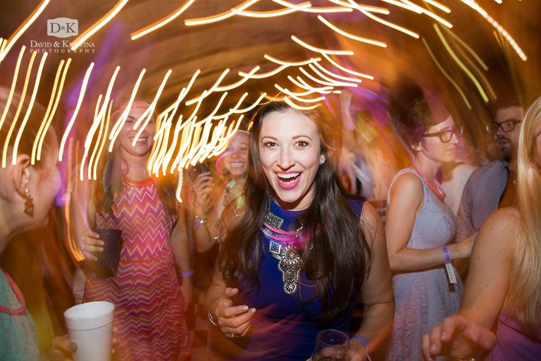 streaky lights for wedding reception phtoos