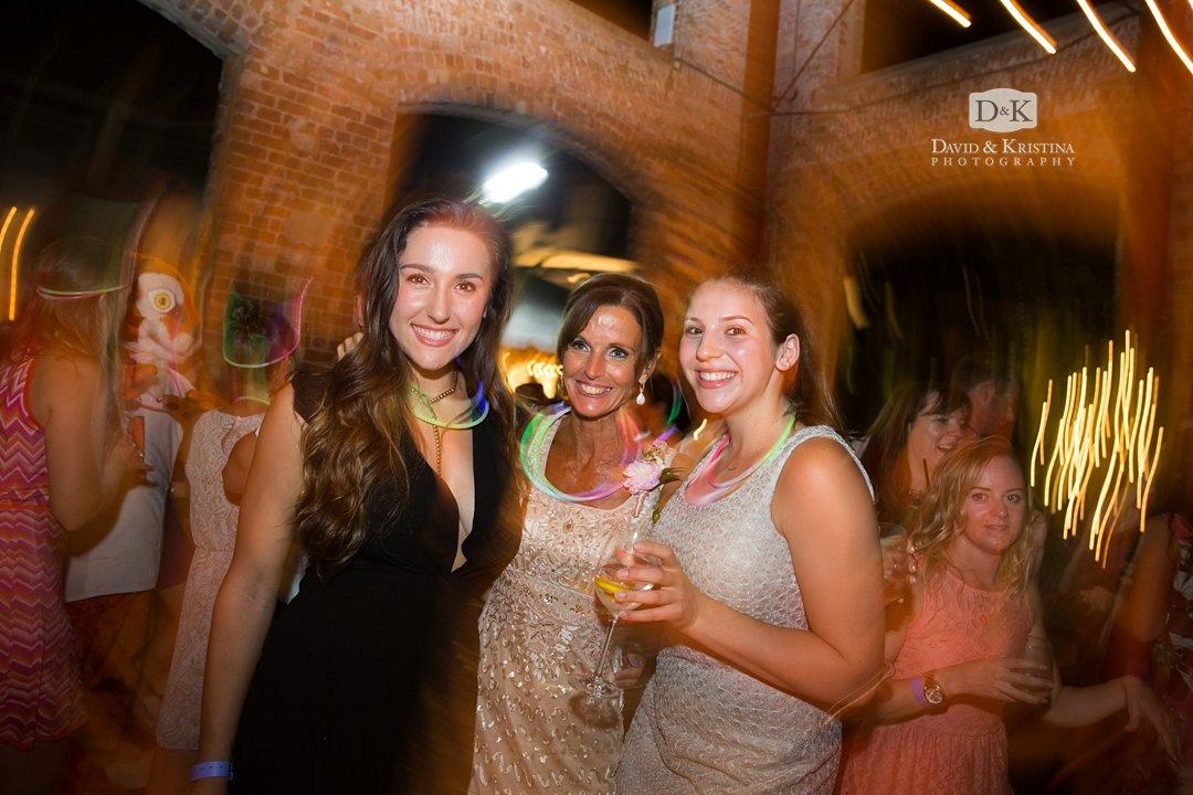 wedding reception at Wyche Pavilion
