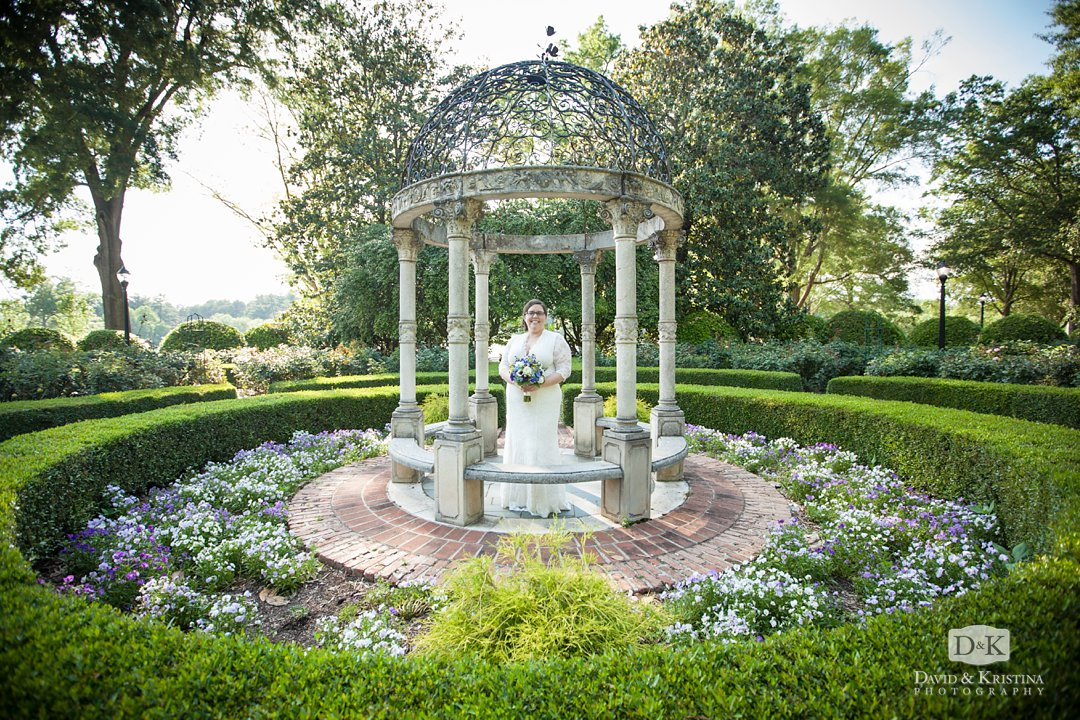 Jessie's bridal portrait in the Furman Rose Garden