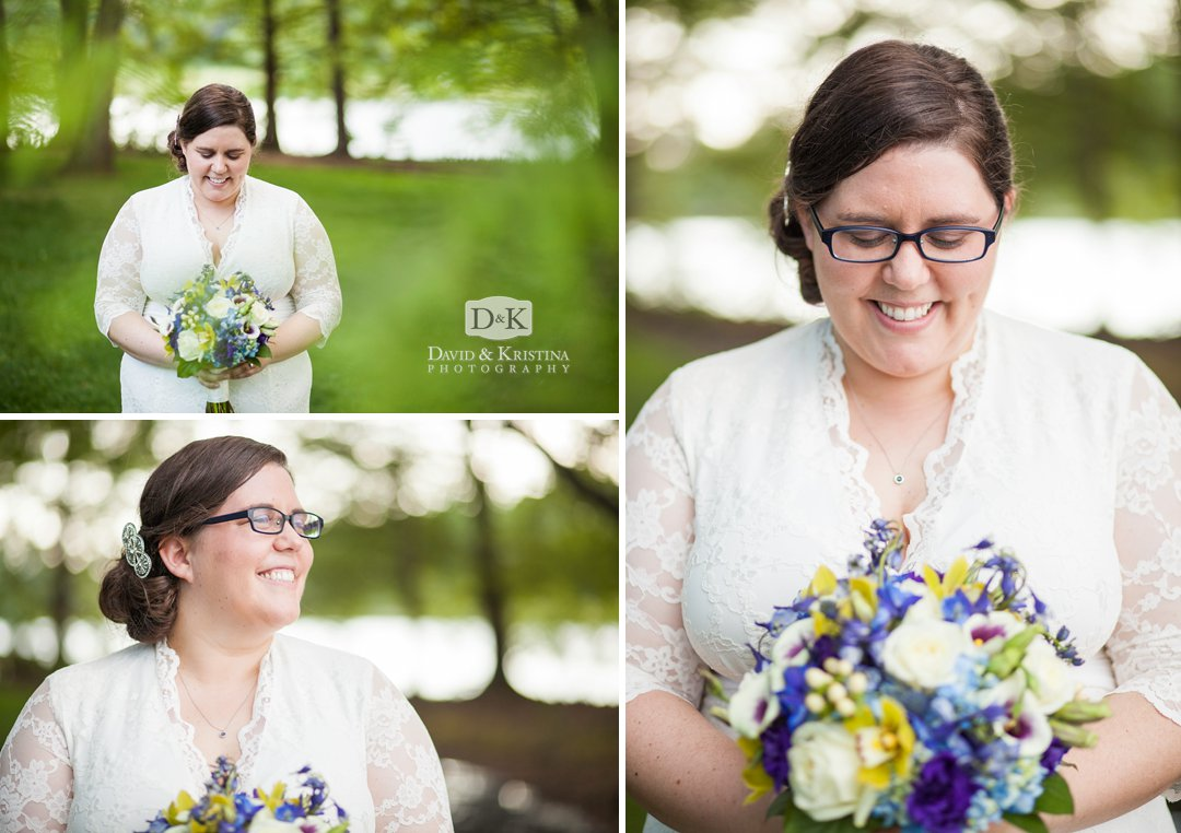 bridal portraits at Furman Lake