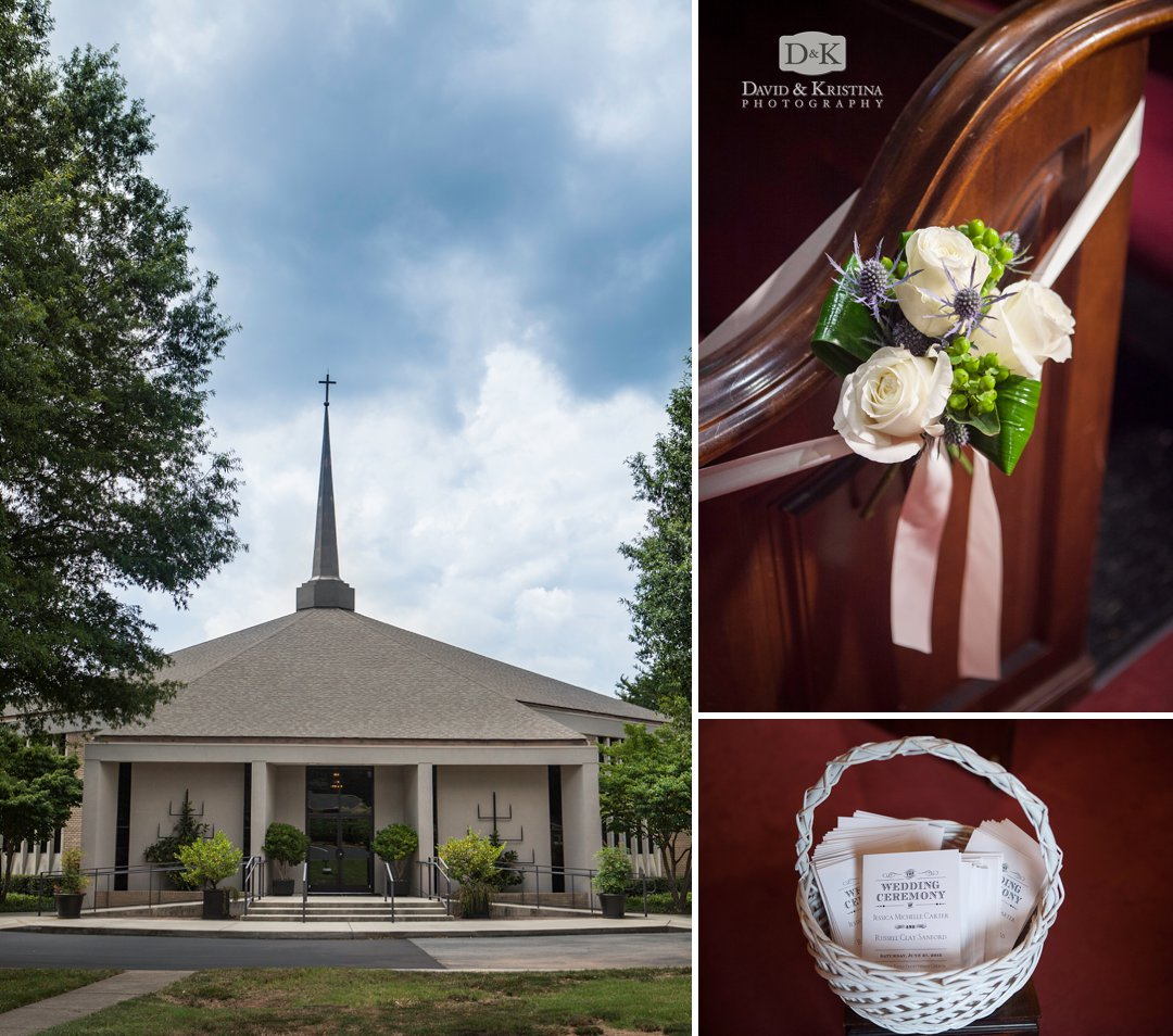 wedding at Mitchell Road Presbyterian Church