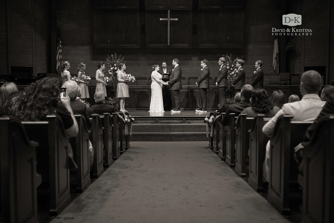 Mitchell Road Presbyterian sanctuary during wedding ceremony