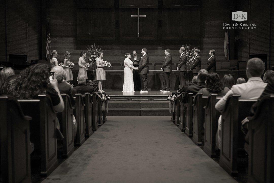 Mitchell Road Presbyterian sanctuary during wedding ceremony
