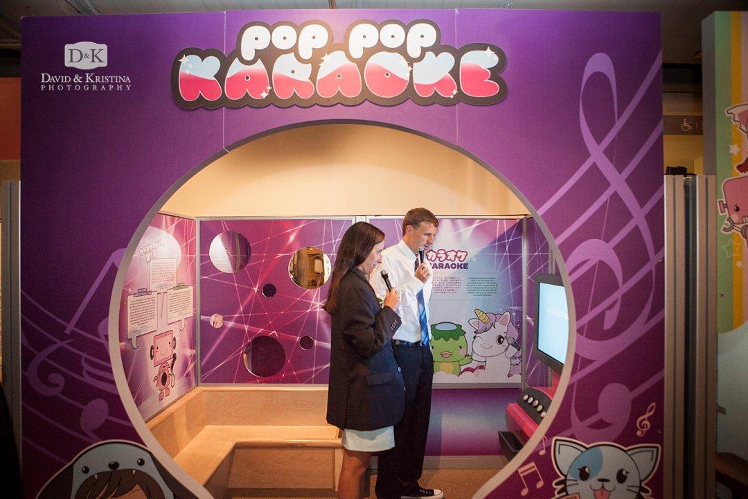 pop pop Karaoke exhibit