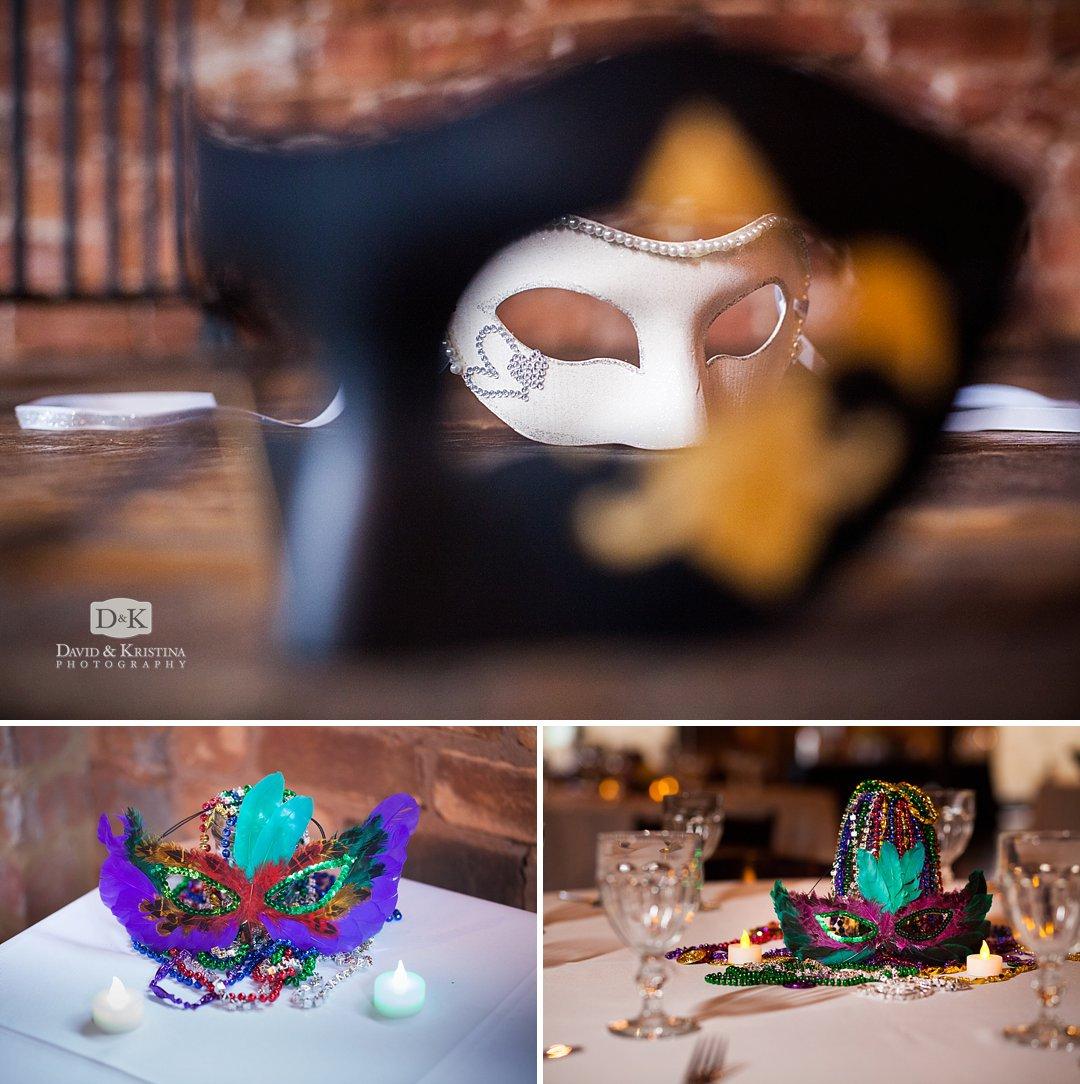 mardi gras wedding decorations
