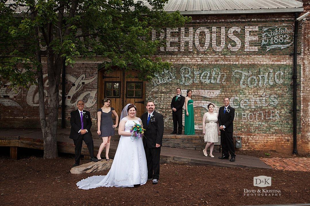 wedding party at Old Cigar Warehouse