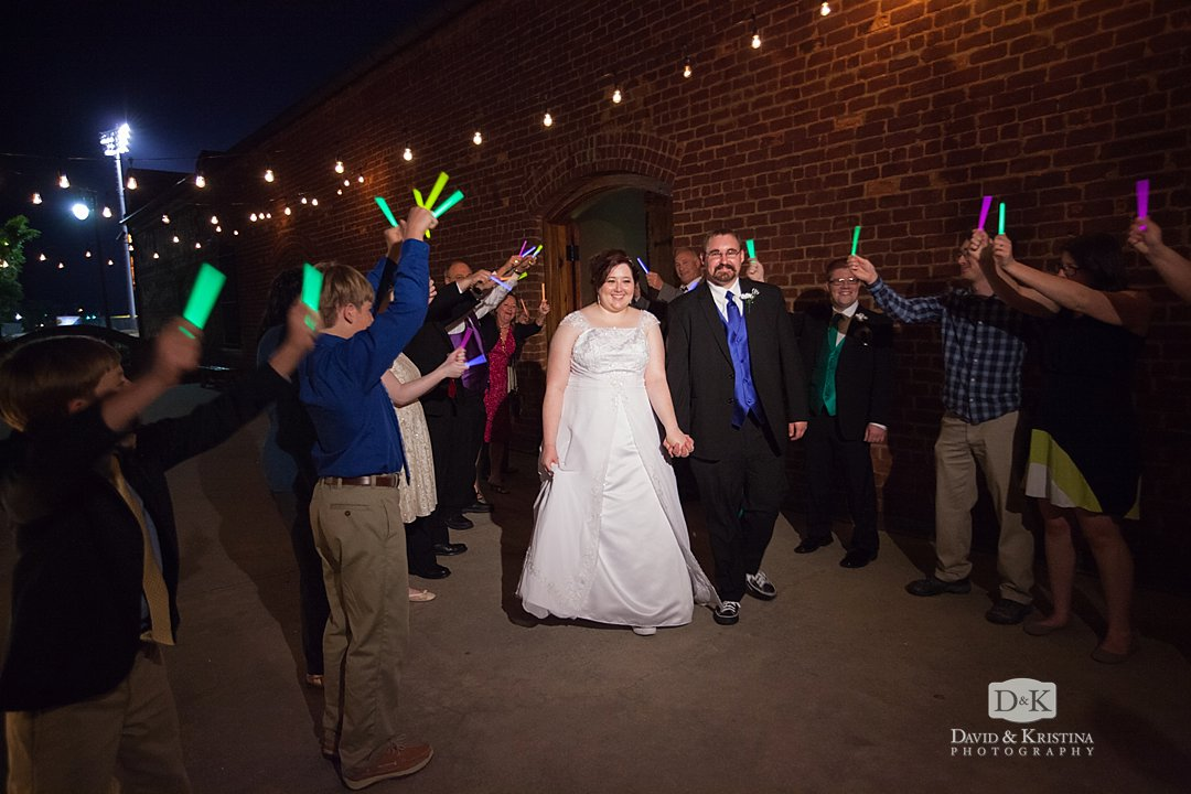 glow sticks for bride and groom send off