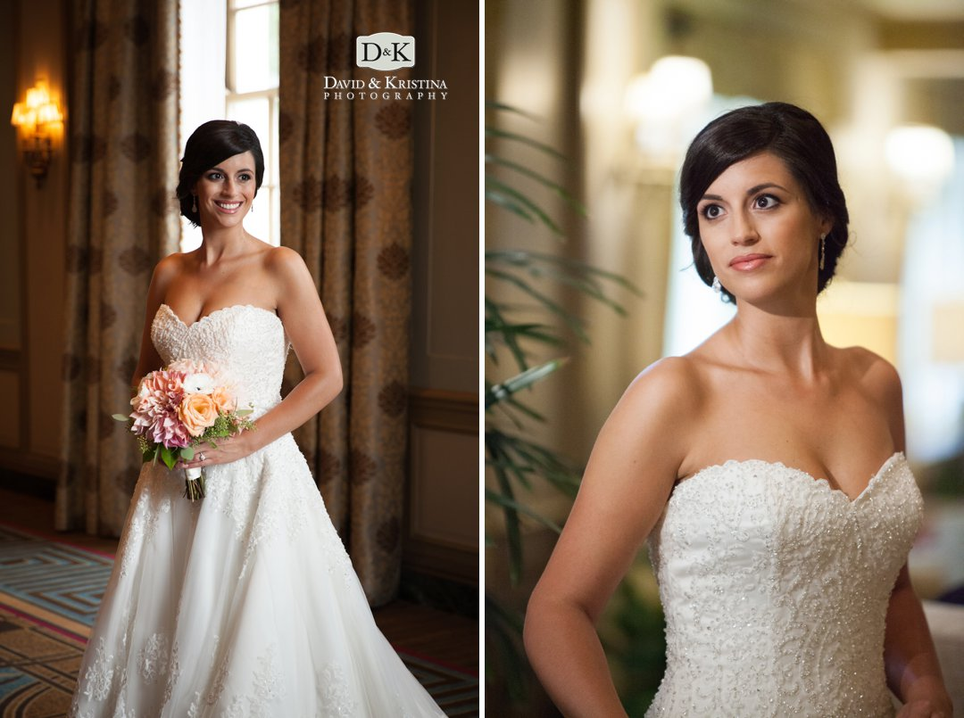 bridal portrait in lobby