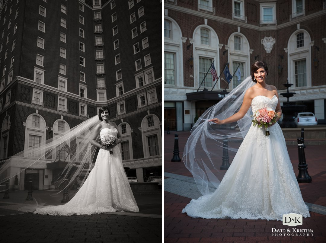 Westin Poinsett Hotel bridal portraits